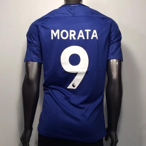 best service 3f837 b14b8 2017-18 Chelsea FC Morata #9 L Soccer Jersey NWT